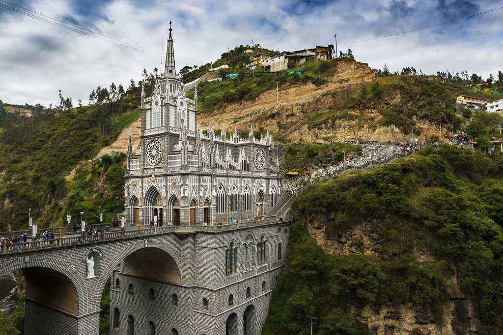 This jaw-dropping basilica is a major attraction near the Colombian border.