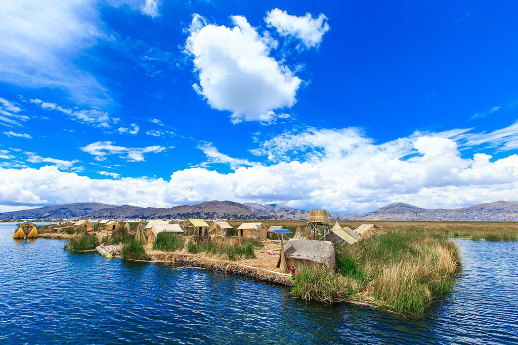 Titicaca lake near Puno