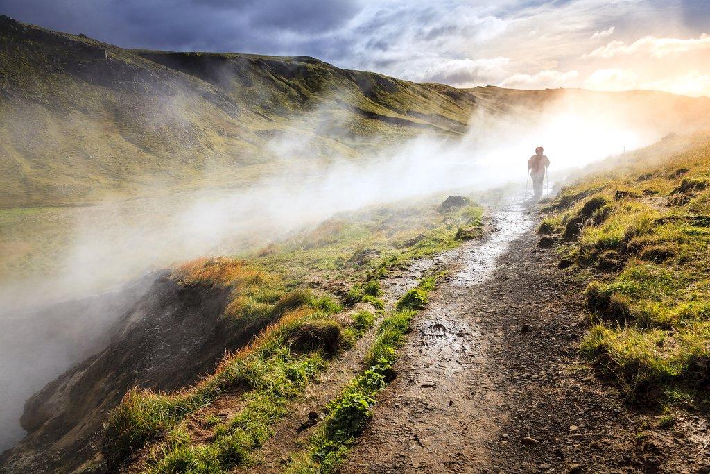 Reykjadalur Valley, just 30 miles outside of Reykjavik