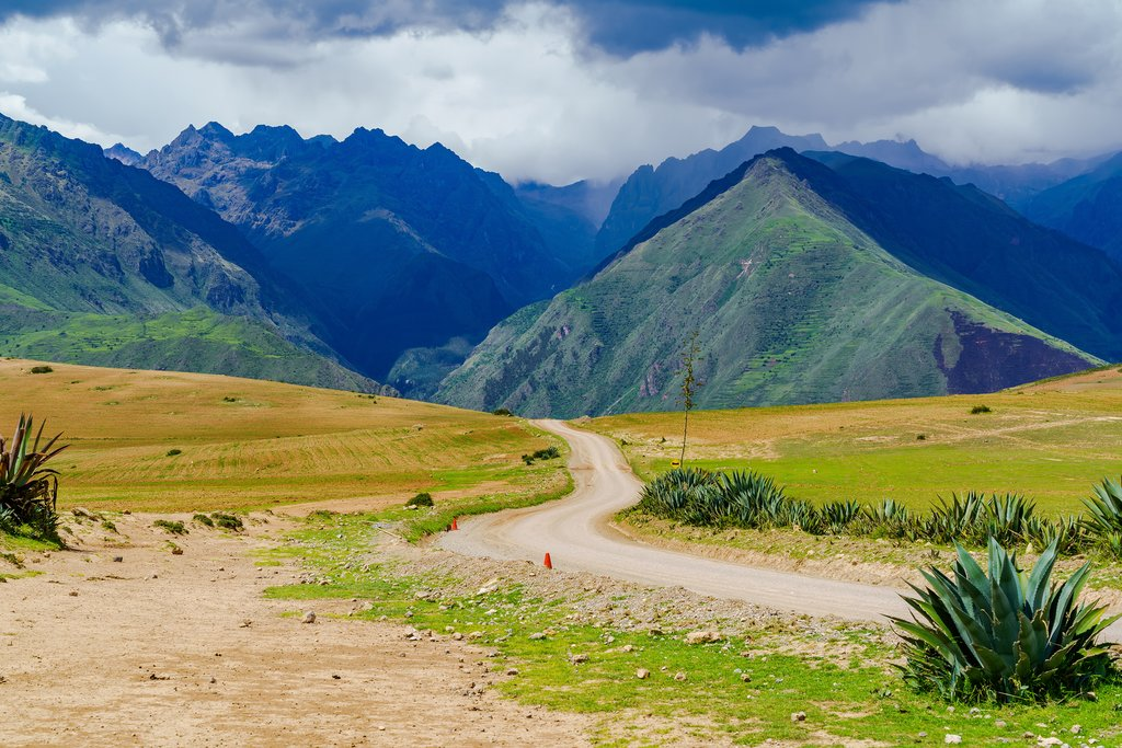Enticing road leads through the heart of the Sacred Valley in Peru