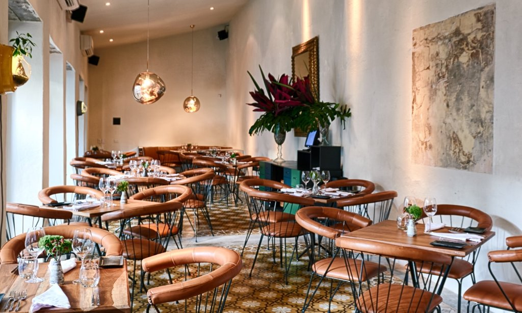 Carmen's exquisite interior, the perfect place to enjoy contemporary Colombian cuisine.