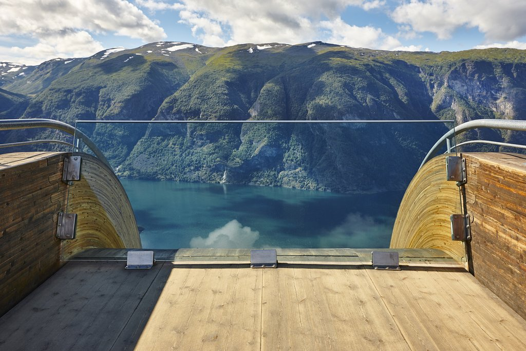 Stegastein Viewpoint near the village of Aurland.