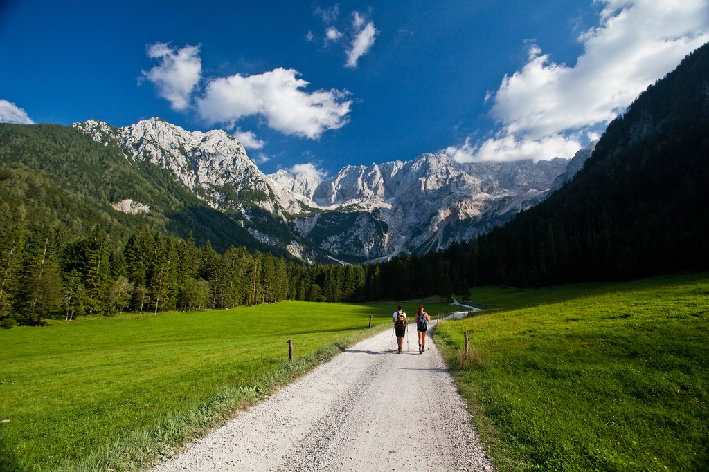 The picturesque trails of the Jezersko region