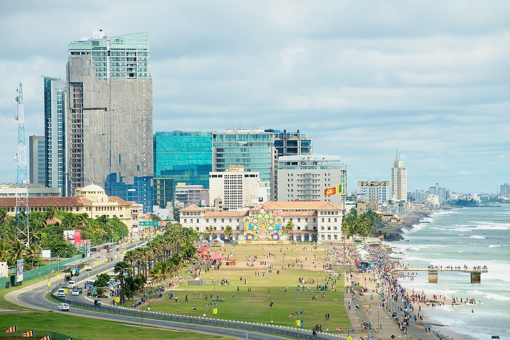 Coastal view of Colombo