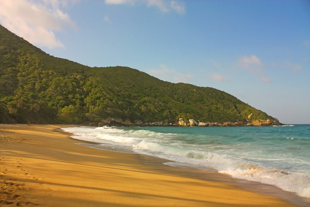 One of the scenic beaches at Tayrona Park.