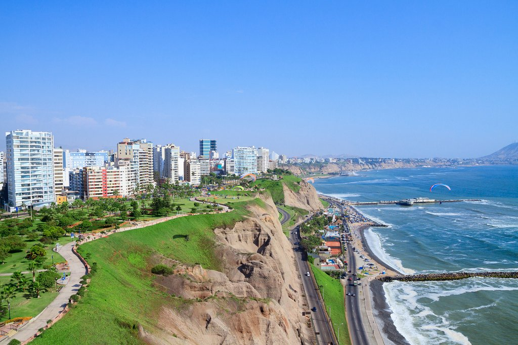 View of Lima from the neighborhood of Miraflores.