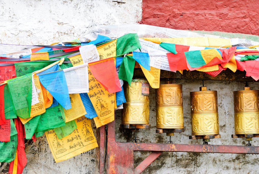 Prayer drums, Lhasa, Tibet, China
