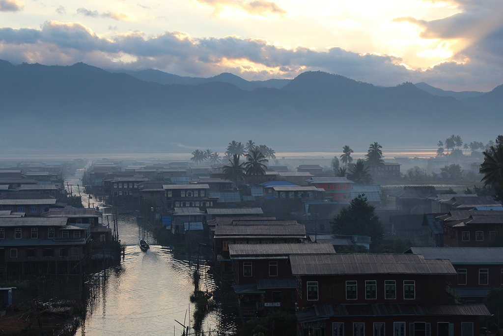 Hot-Air Ballooning over Inle Lake