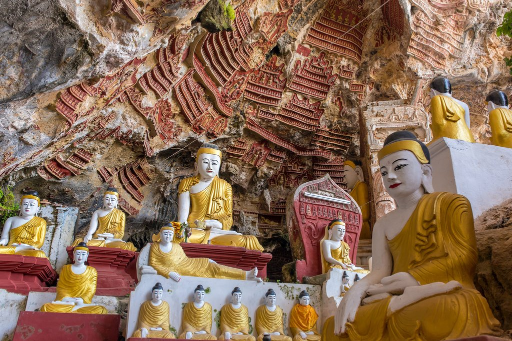 Kaw Goon cave near Hpa-An, Myanmar