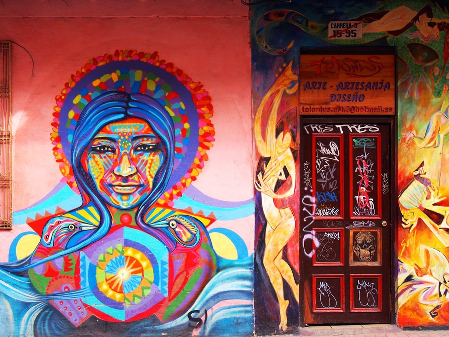 Graffiti art in Bogotá.