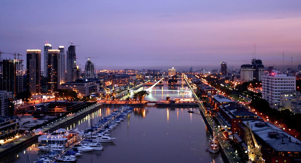 View of the harbor in Buenos Aires.