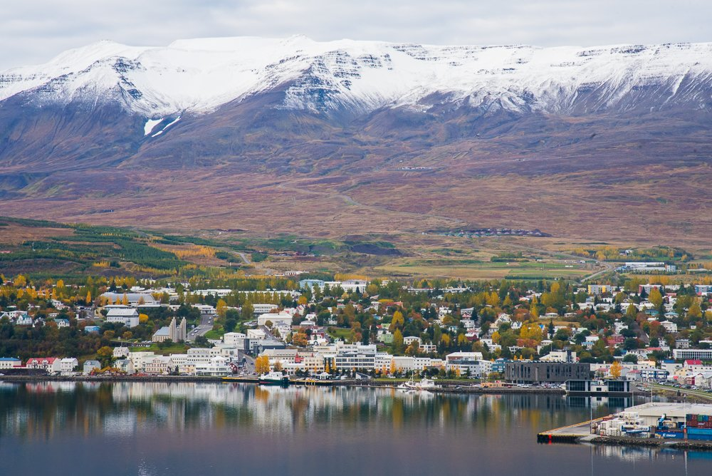 Akureyri from across the fjord