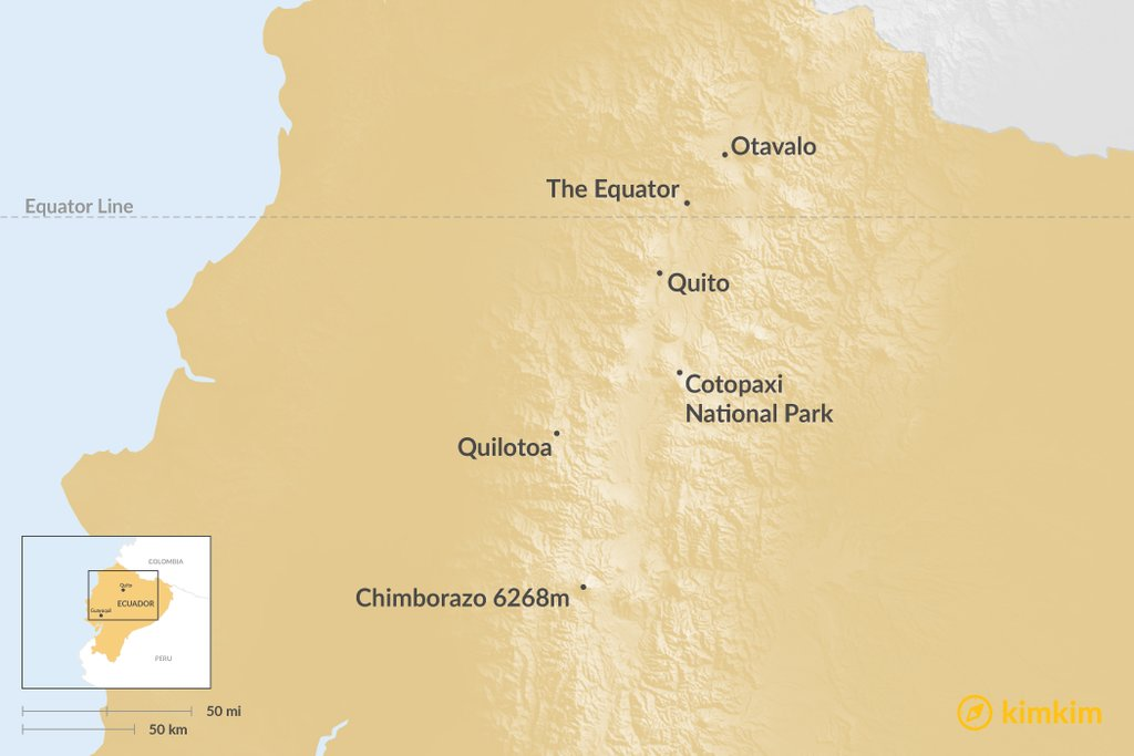 Ecuador - Top 6 Things To Do In The Andes | kimkim on hungary map, belize map, czech republic map, puerto rico map, dominican republic map, panama map, romania map, el salvador map, equator map, greece map, united states map, spain map, brazil map, costa rica map, aruba map, china map, colombia map, bulgaria map, canada map, portugal map, french guiana map, belarus map, croatia map, cuba map, chile map, peru map, ivory coast map, mexico map, columbia map, galapagos map, argentina map, bolivia map, venezuela map,