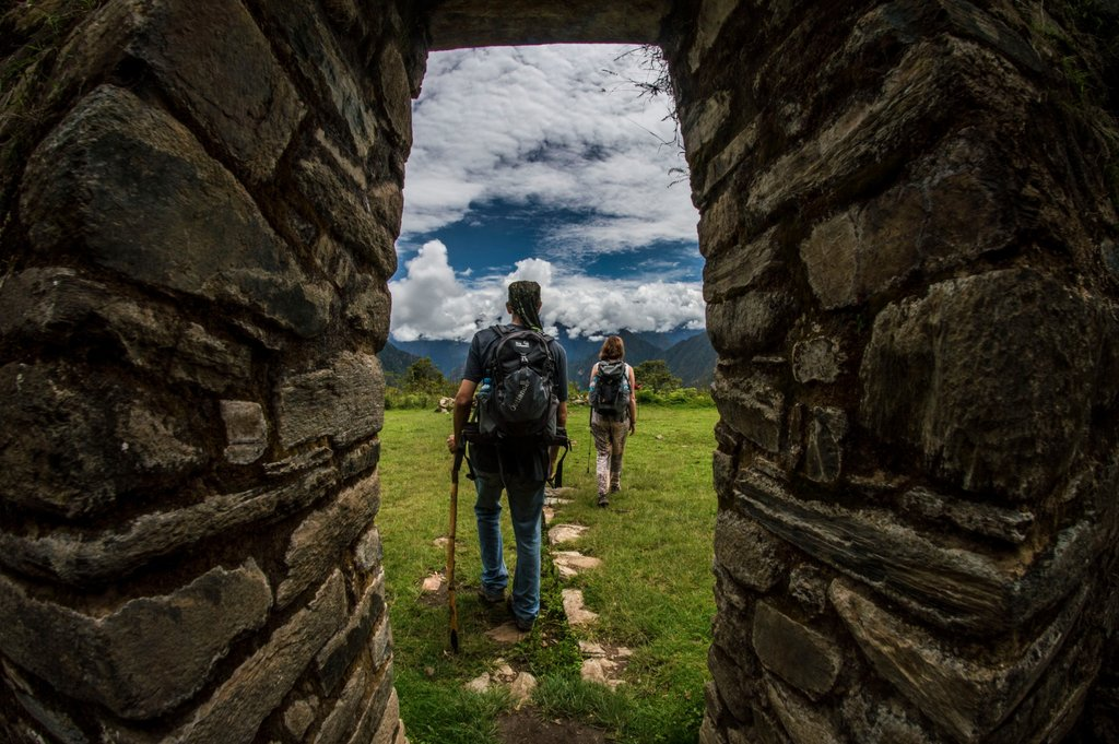 Behind every corner and stone ruin is a breathtaking view of the Andes Mountains