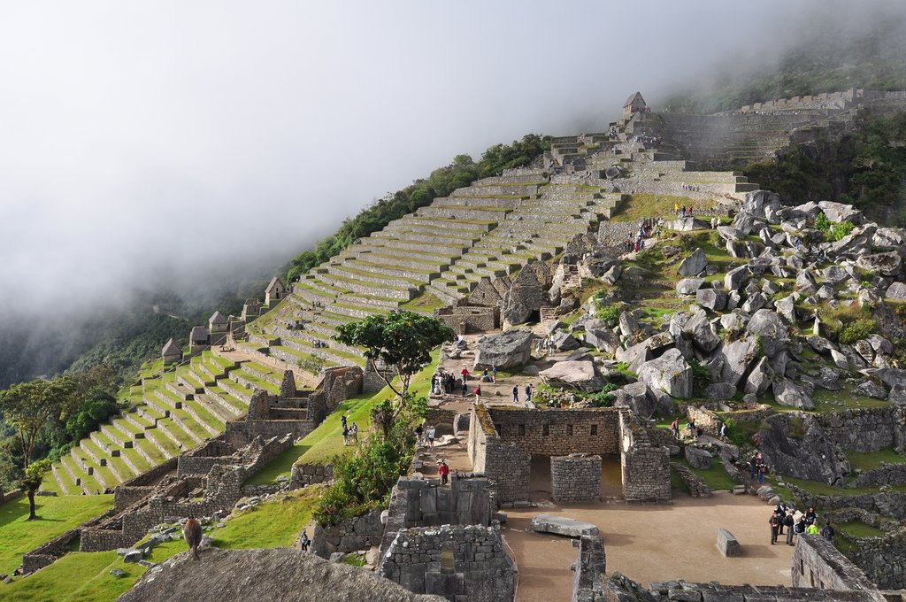 Machu Picchu, the specular stone citadel of the Incas, a travelers' highlight of South America.