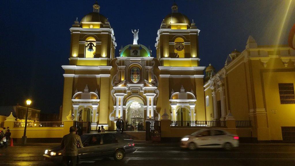 Trujillo's beautiful cathedral and Plaza de Armas