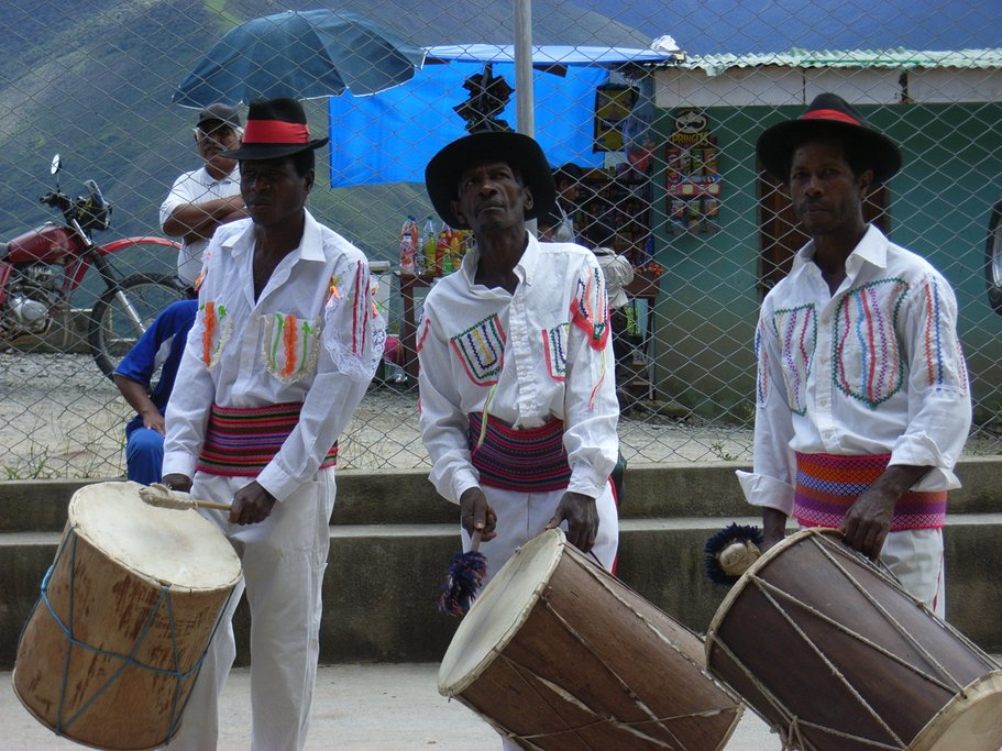 Afro-Bolivianos playing traditional music