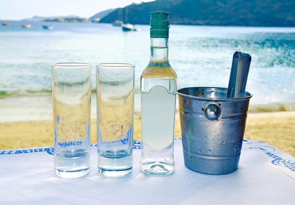 The island of Lesvos is the birthplace of ouzo, Greece's favorite spirit