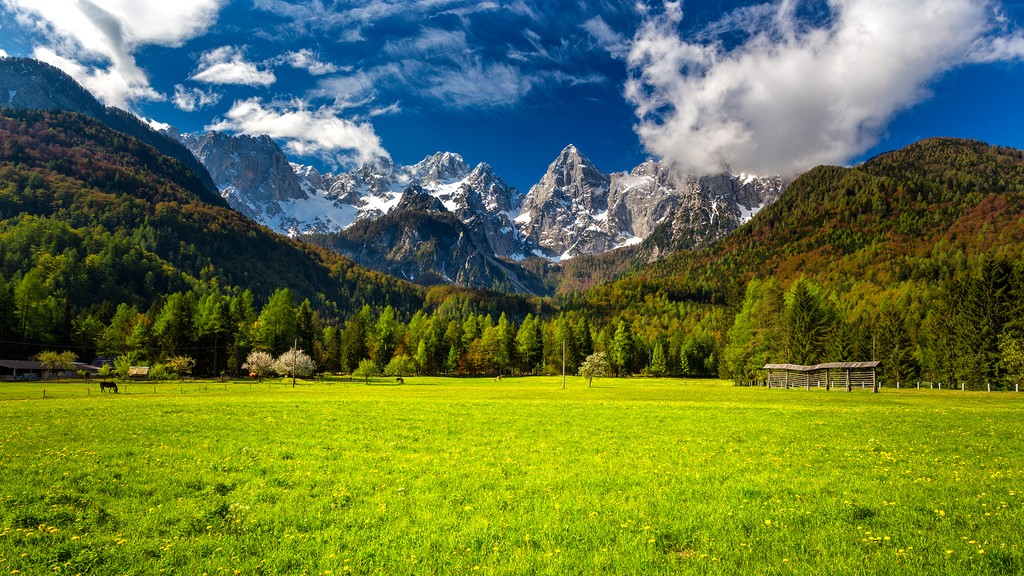 Slovenian alps in spring