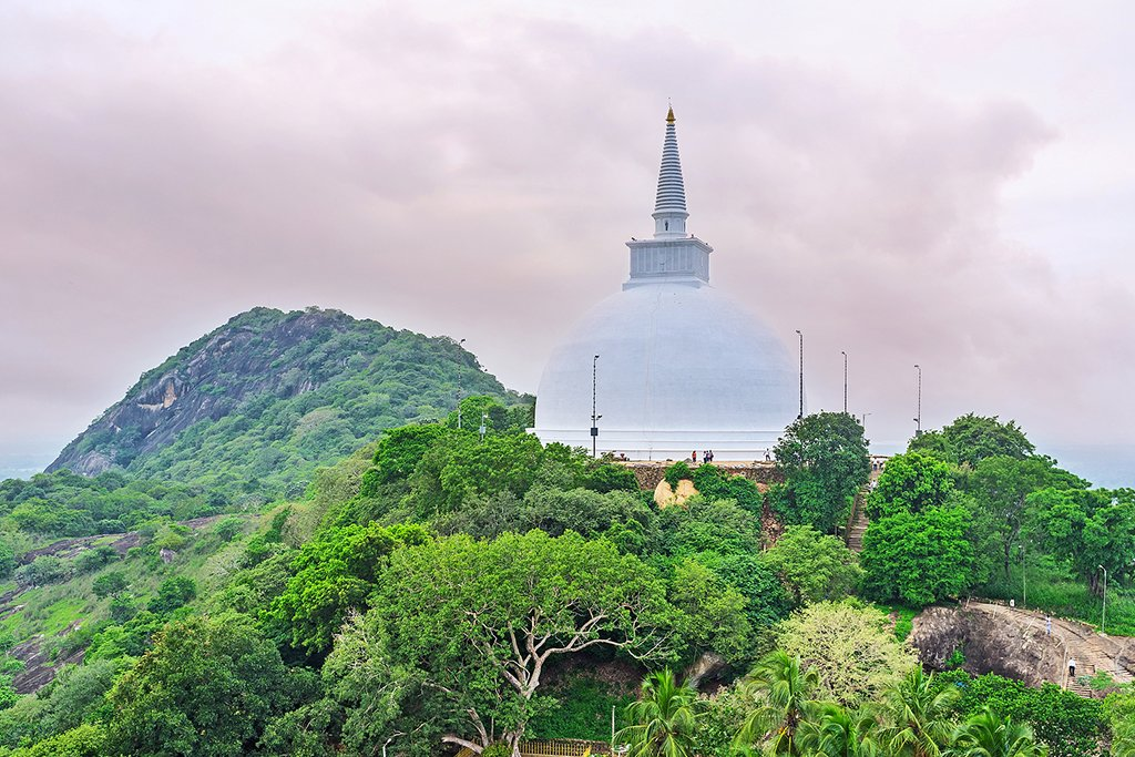 The Maha Seya Stupa on Mahinda Hill in Mihintale
