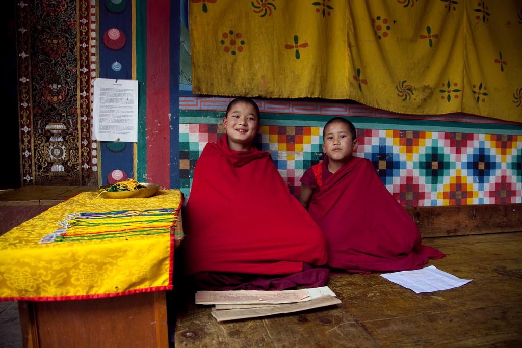Young Bhutanese monks