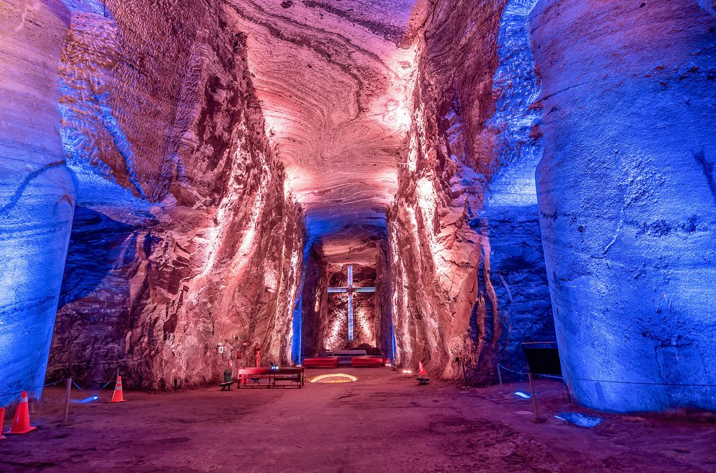 Take a tour of this underground cathedral built in a salt mine.