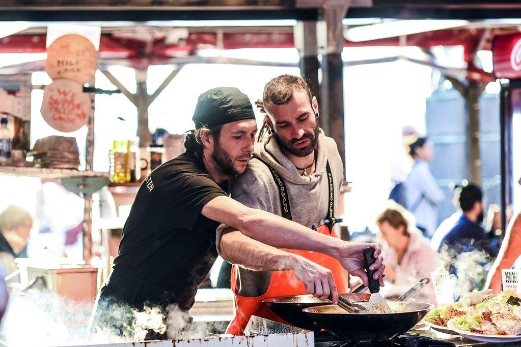 Chefs at the Fish Market, Bergen