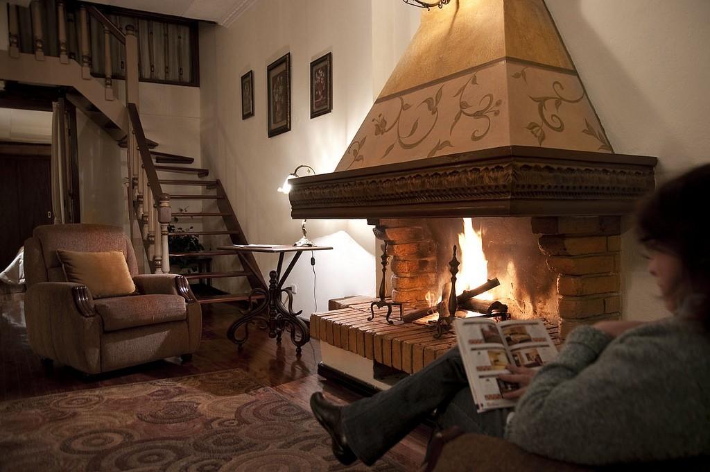 Fireplace at Casa San Rafael