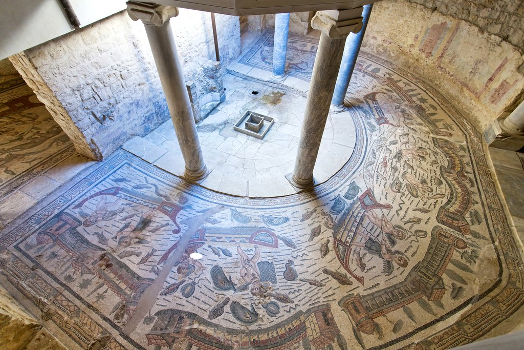 Ancient mosaics at the Villa Romana del Casale
