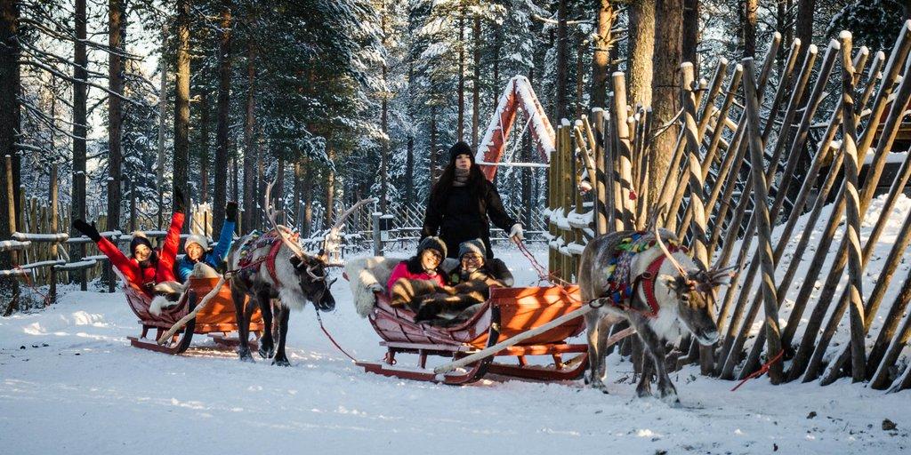 Sleigh rides in Santa's Village