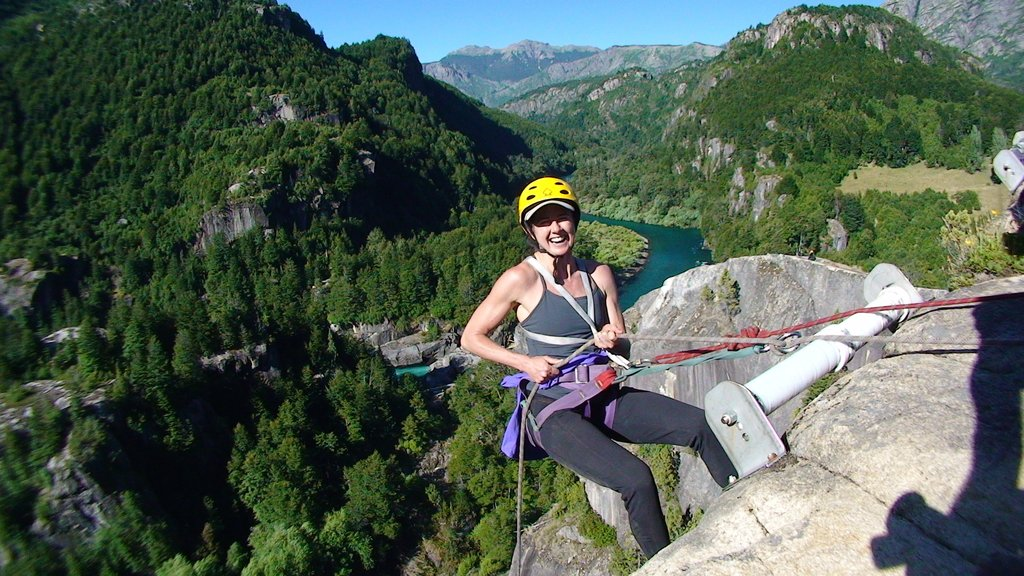 Rock climbing and rapelling
