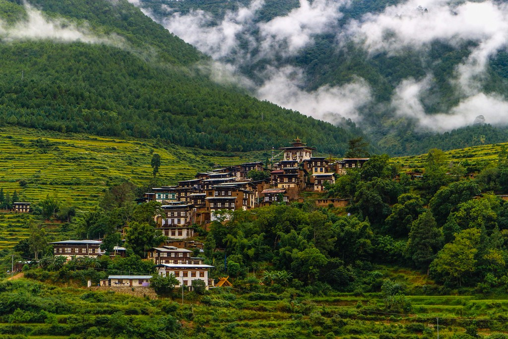 A village near Punakha