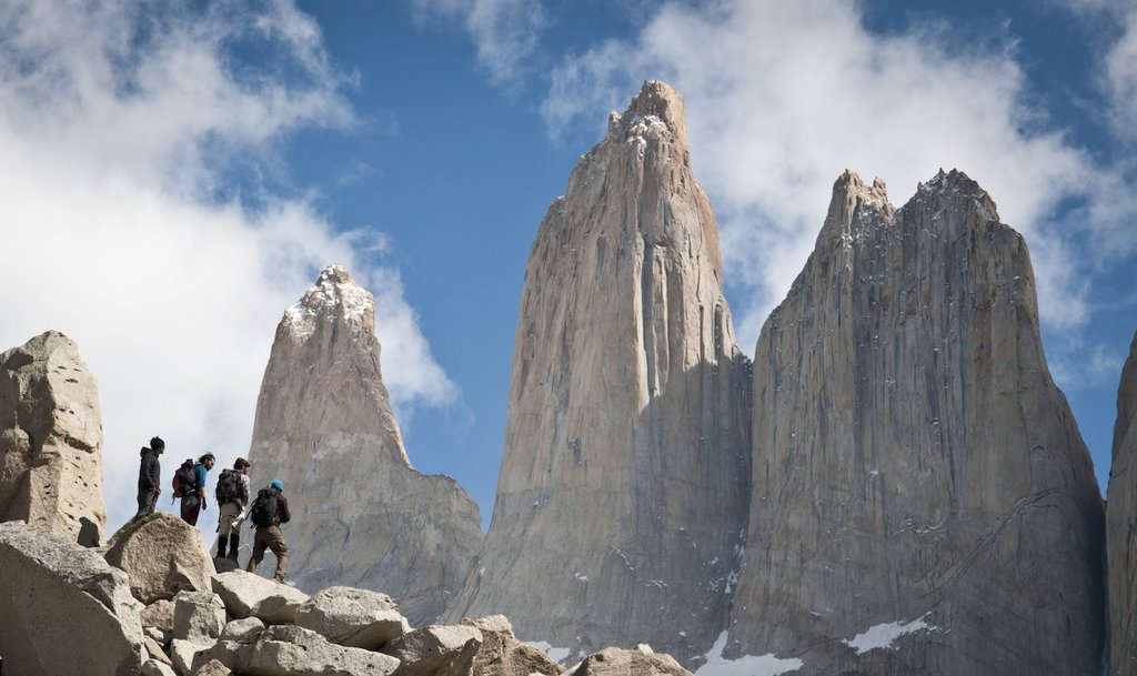 Approaching the summit of Torres del Paine