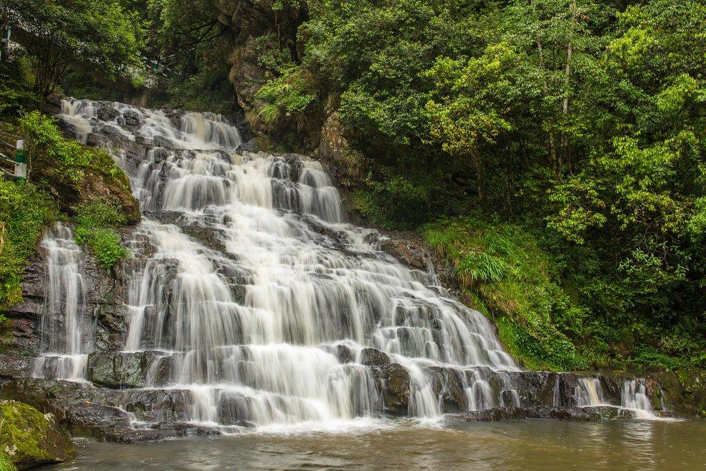 A waterfall in Shillong, Meghalaya
