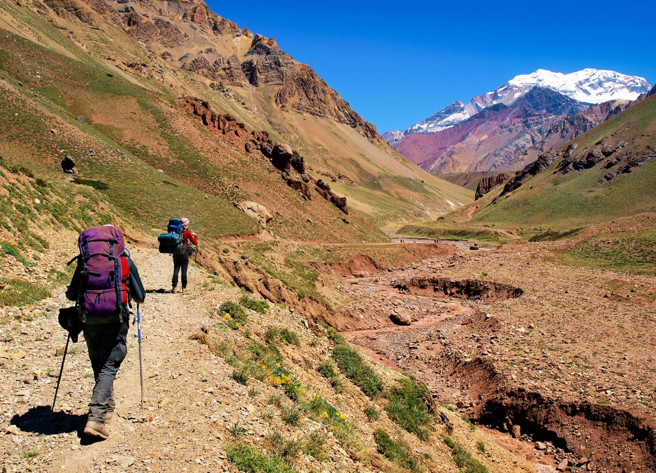 Hiking through Aconcagua's valleys