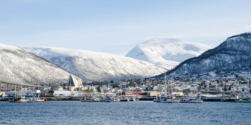 Snow-dusted Tromsø