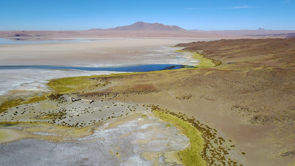 Stunning scenery of the Talar Salt Flat
