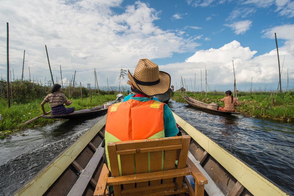 Explore Inle Lake by boat