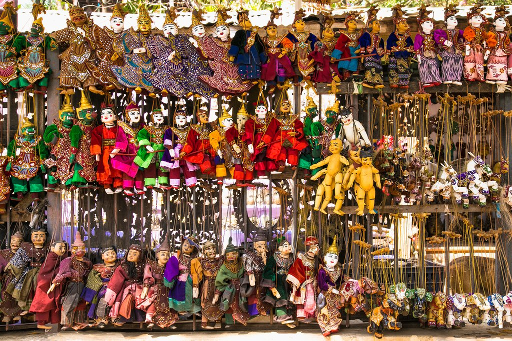Hand-made puppets, Mandalay, Myanmar