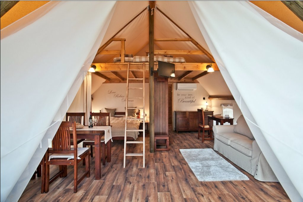 A Glamping Tent at Garden Village. Photo Courtesy of Garden Village