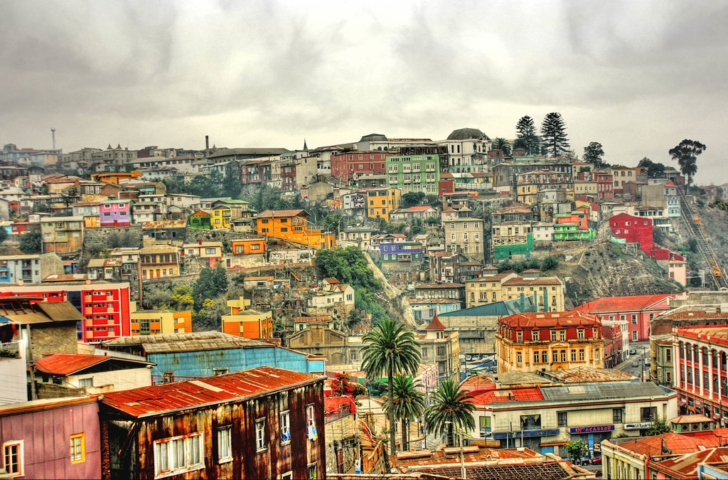 The quirky, colorful buildings of historic Valparaíso
