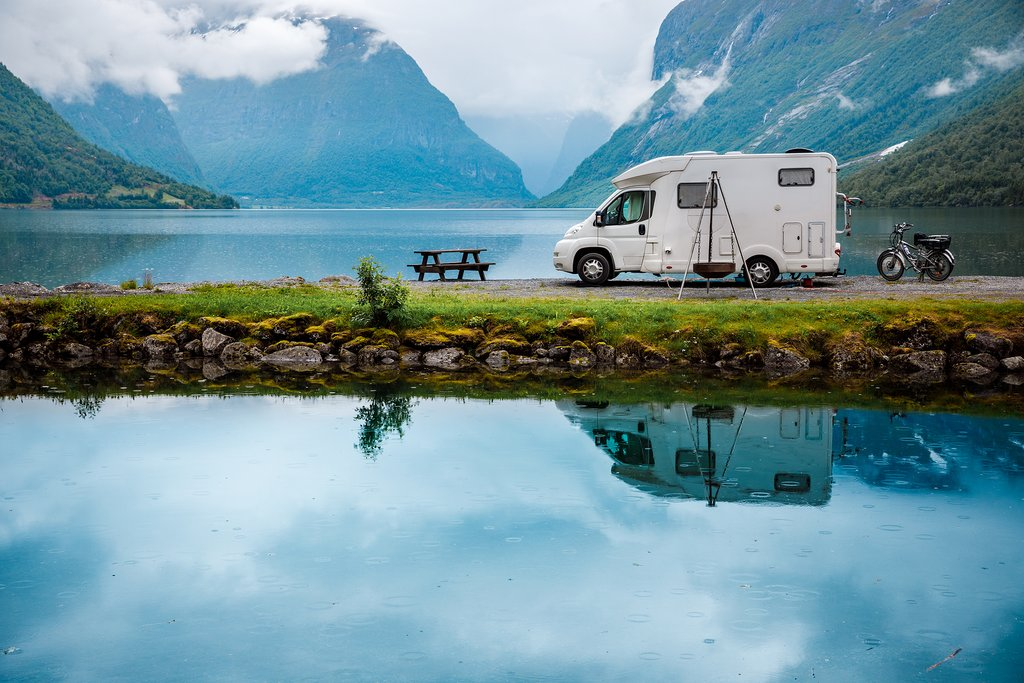 RV in Norway, family travel