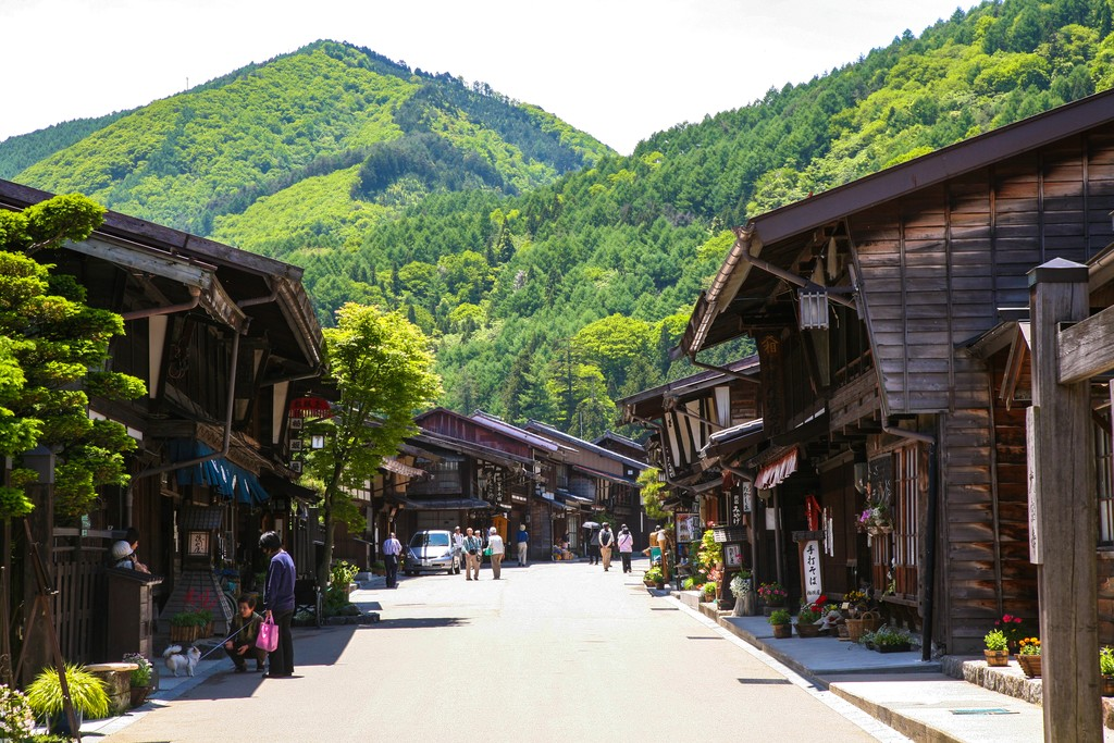 The post town village of Narai, the mid-way point of the Nakasendo Trail