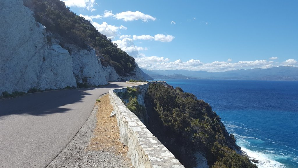 The stunning cliffside roads of Cape Corsica