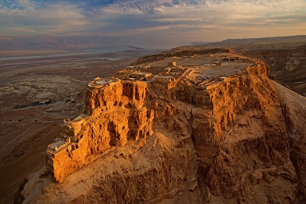 Bird's-eye view of Masada