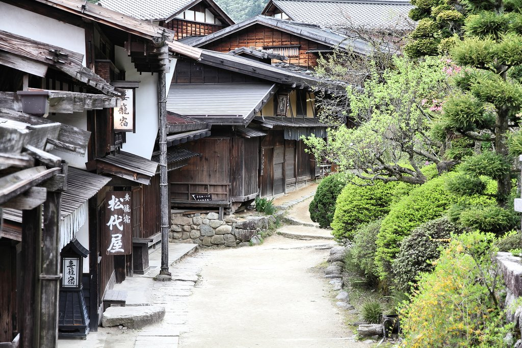 Tsumago, which is part of the Nakasendo Trail