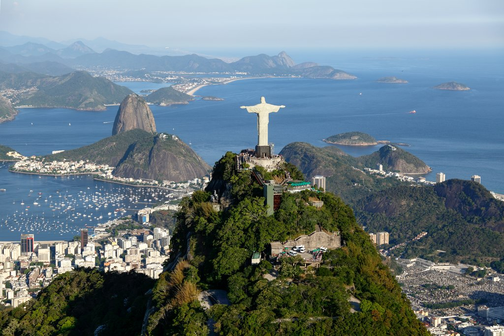 The infamous statue of Christ the Redeemer in Rio de Jainero