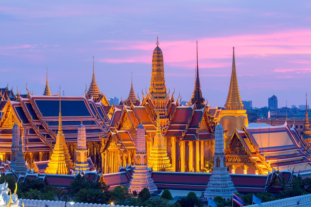 The golden spires of the Grand Palace
