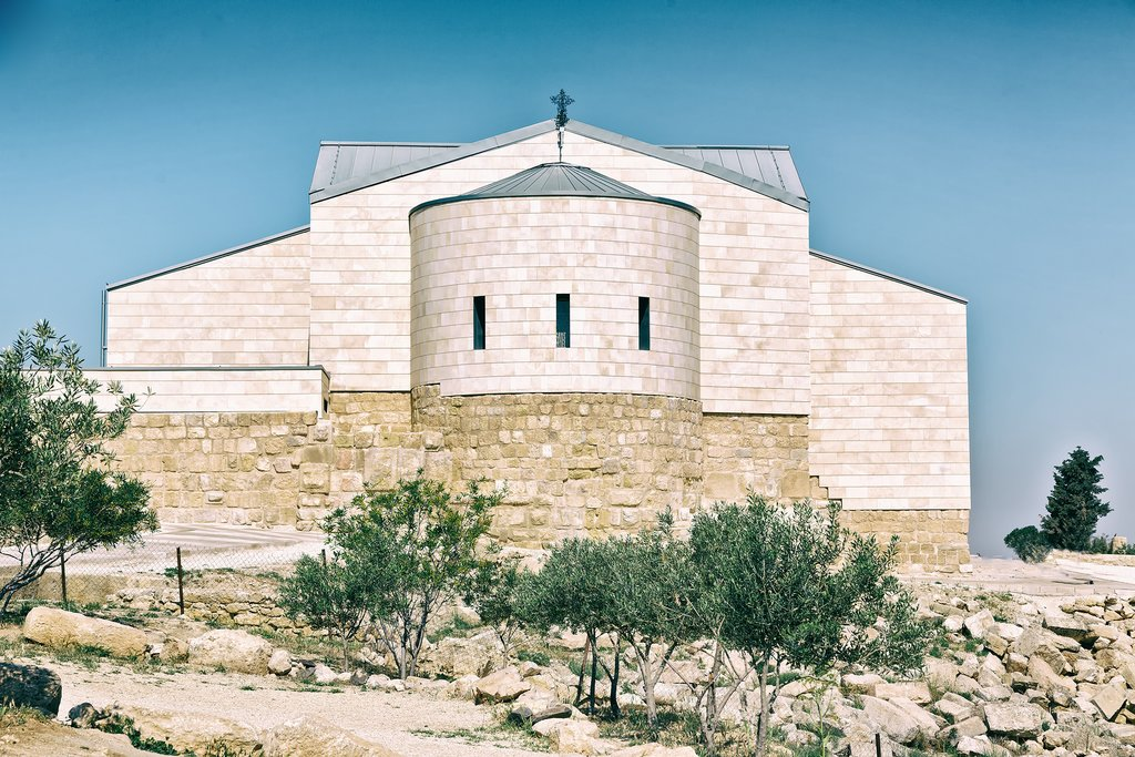 Ancient monastery a Mt Nebo in Jordan