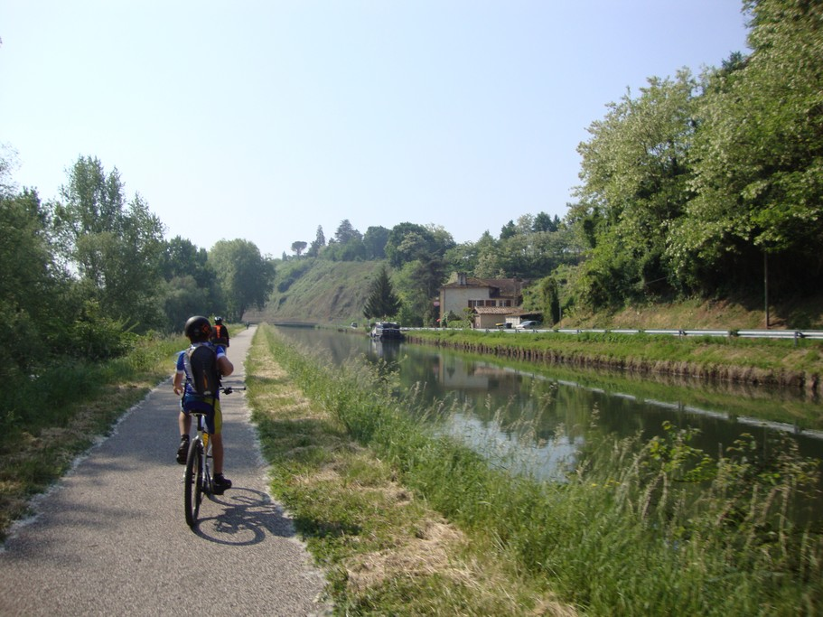Cycling along the canal
